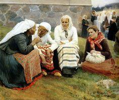 Edelfelt, Albert (1854-1905) - 1887 The Gossip by RasMarley, via Flickr