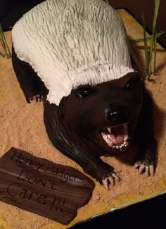 Honey Badgers Don't Care Cake