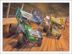 World Of Outlaws Sprintcars 2002 Sprint Car Racing, Dirt Racing, Auto Racing, Outlaw Racing, Flat Track Racing, Top Cars, Automotive Art, Dirt Track, Car Pictures