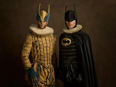 Continuing his Super Flemish series, artist Sacha Goldberger delivers a few 'family portraits' of superheroes and other pop culture characters like you've never seen before… [via ufunk] Previously: 'Jurassic World' Disney Princesses Book Characters Dress Up, Character Dress Up, Comic Book Characters, Comic Books, Cultura Pop, Sacha Goldberger, Fanart, Lego Batman, Superman