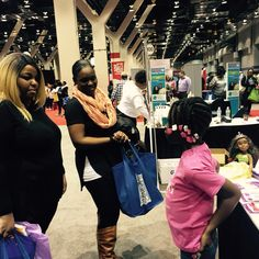 Making a pitch at Black Women's Expo in Chicago