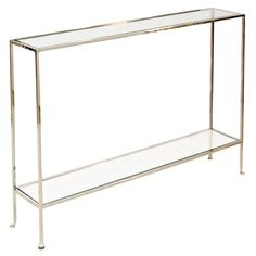 Worlds Away Woodard Skinny Nickel Console-perfect for narrow hallways or tight spaces
