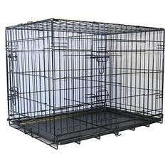 GoPetClubs Outdoor 30-inch 2-Door Heavy-Duty Metal Folding Dog Crate w/ Divider > Special dog product just for you. See it now! : Dog cages
