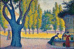 Paul Signac, Saint-Tropez. Fontaine des Lices, 1895. Huile sur toile, 65 x 81 cm. Collection privée © photo Maurice Aeschimann.