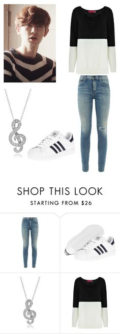 """Outfit Inspired by: Chanyeol in Exo Next Door"" by kaisper ❤ liked on Polyvore featuring Citizens of Humanity, adidas, Journee Collection, Boohoo, EXO, chanyeol and kpopinspired"