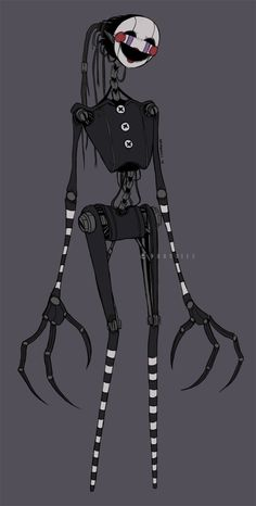 This is soo creepy and still soo cool Drawkill Marionette Five Nights At Freddy's, The Puppeteer Creepypasta, Horror, Fnaf Characters, Fnaf Sl, Freddy 's, Fnaf Drawings, Images Gif, Fnaf Sister Location