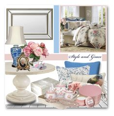 """Nana's Bedroom"" by brendariley-1 ❤ liked on Polyvore featuring interior, interiors, interior design, home, home decor, interior decorating, Bernhardt, Harbor House, Renwil and Pigeon & Poodle"