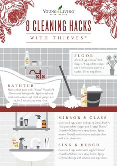 Website Maintenance 8 Bathroom Cleaning Hacks with Thieves Household Cleaner Essential Oil Cleaner, Thieves Household Cleaner, Thieves Cleaner, Thieves Essential Oil, Essential Oils Cleaning, Household Cleaners, Household Tips, Young Living Oils, Young Living Essential Oils