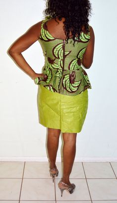 Robe africaine robe d'Ankara robe verte par ZabbaDesigns sur Etsy