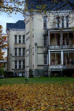 State Hospital - Traverse City, Michigan - favorite place to walk, huge grounds and buildings for mental hosp. (emptied and abandoned by Pres. Reagan!)