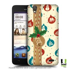 Make this Christmas more joyous by delighting yourself with a Head Case Designs Back Case that matches up the spirit of the season with Balls Christmas Gifts Back Case for Huwaei Ascend G630