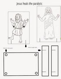 Matthew 9:1-8; Mark 2: 1-12; Luke 5: 17-26: Four Friends Helped; Jesus Healed a Paralyzed Man Craft