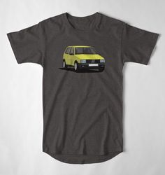 Fiat Uno Turbo i. on T-shirt. hot hatch from Italy. Fiat Uno, Car Illustration, Mk1, Cool Cars, Italy, Mens Tops, T Shirt, Supreme T Shirt, Italia