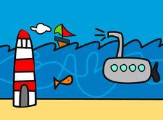 Sea dream children illustration