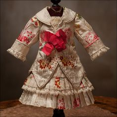 Antique Doll Dress, but it looks like a real child's dress