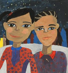 Brianna: My artwork is about two girls that come from different ethnic groups, and they become best friends because they share a lot of things in common. Your friends can come from different cultural backgrounds, and it is good to learn about other cultures from them. You can be your true self with your friends. No matter what happens, friends stand up for each other and that is the beauty of having a true friend.