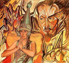 Witkiewicz, Stanislaw Ignacy (1885-1939) - 1926 Nawrocki Family (Museum of Central Pomerania, Slupsk, Poland)