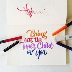 Bring out the inner child in you. #calligrafikas #brushlettering