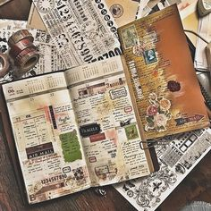 Week 25 and my insert for July-December is all set! #midoritravelersnotebook #travelersnotebook #travelersnote #notebook #planner #plannerpages #agenda #diary #journal #collage #stationery #mixedmediacollage