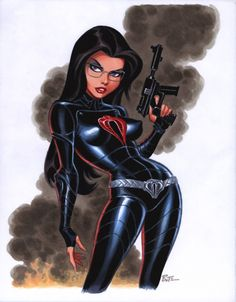 The Baroness from G.I. Joe  Comic Art by Bruce Timm