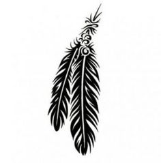 Tattoo Designs, Gallery of Unique Printable Tattoos Pictures and Ideas Tribal Feather Tattoos, Feather Tattoo Design, Tribal Tattoo Designs, Feather Drawing, Feather Art, Trendy Tattoos, Cool Tattoos, Tatoos, Tribal Tattoos Native American