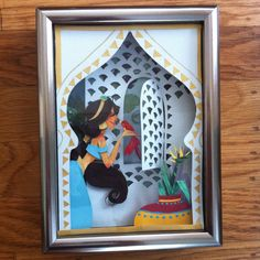 princess jasmine paper art disney watercolor j shari ewing