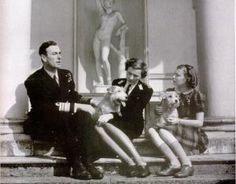 Lord and Lady Louis Mountbatten with one of their daughter Patricia Mountbatten later Knatchbull