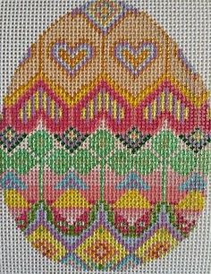 Beautiful-Hand-Painted-HP-Oval-Egg-Needlepoint-Canvas-18-mesh