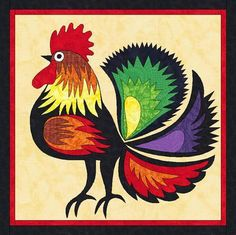 Free Applique Templates | Red Rooster ... by Linleys Designs | Quilting Pattern