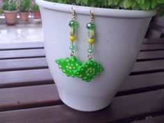 polymer clay earrings with different pearls