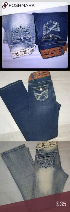 Women's no boundaries jeans like new Women's no boundaries jeans like new worn maybe once both size 9 great condition No Boundaries Jeans
