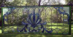 Gothic Lace Stained Glass Transom