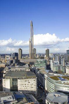An 80-story wooden skyscraper in London.
