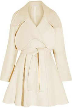 Shop Jw Anderson Woman Hemp Trench Coat Ivory from stores. On SALE now!Anderson cream coat- Mid-weight hemp- Belt loops, detachable belt, front welt pockets, flared hem- Slips on- hemp- Dry clean- Made in Italy Designer Winter Coats, Designer Trench Coats, Designer Clothes Sale, Discount Designer Clothes, Trench Coat Sale, Winter Coats On Sale, J W Anderson, Coats For Women, Fashion Online