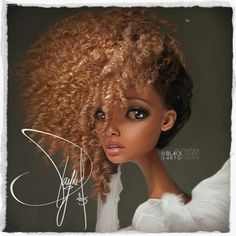 black-fenrir:   Hey guys, here is my illustration... | Embracing Natural Hair