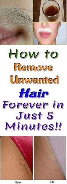 How to Remove Unwanted Hair Forever in Just 5 Minutes! How to Remove Unwanted Hair Forever in Just Beauty Make-up, Beauty Hacks, Beauty Skin, Beauty Ideas, Beauty Tips, Hair Removal Cream, Laser Hair Removal, Make Up Tutorials, Facial Hair