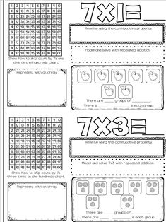 Help students learn their multiplication facts with these multiplication booklets. There is a page for all multiplication facts through Students practice multiplication through arrays, repeated addition, hundreds charts, and grouping models. Learning Multiplication, Maths, Envision Math, Math Blocks, 2nd Grade Math, Third Grade, Common Core Math, Math Facts, Math Classroom