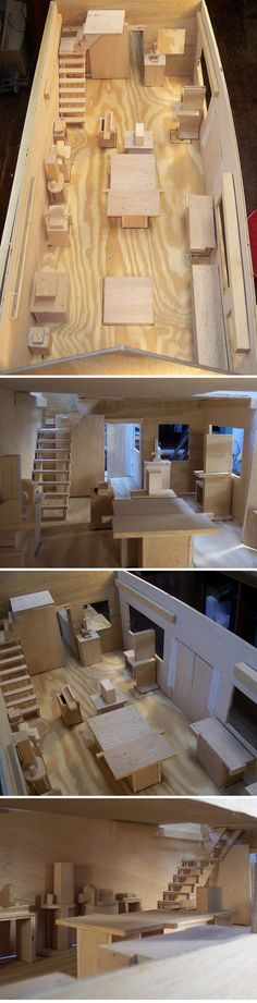 Kari Hultman :: a scale model of her workshop ( on her new workshop planing stage )
