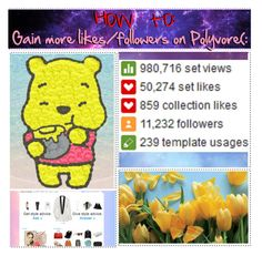 """""""How to gain more likes/followers on Polyvore!"""" by kaykaylovesgaga ❤ liked on Polyvore featuring art"""