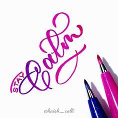 Hand Lettering Alphabet, Hand Lettering Quotes, Calligraphy Letters, Brush Pen Lettering, Stabilo Pen 68, Watercolor Birthday Cards, Pentel Brush Pen, Hand Lettering Tutorial, Beautiful Lettering