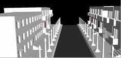 Simple street layout in Maya