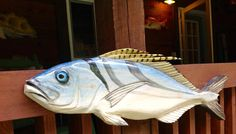 Roosterfish 36 chainsaw wood carving saltwater by oceanarts10