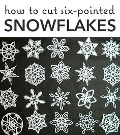 Learn the best way to cut perfect 6-sided snowflakes! #snonwflakes #winter #WinterCraft