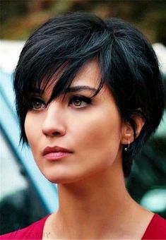 Today we have the most stylish 86 Cute Short Pixie Haircuts. We claim that you have never seen such elegant and eye-catching short hairstyles before. Pixie haircut, of course, offers a lot of options for the hair of the ladies'… Continue Reading → Short Hairstyles For Thick Hair, Short Straight Hair, Short Pixie Haircuts, Pixie Hairstyles, Short Hair Cuts, Curly Hair Styles, Black Hairstyles, Pixie Haircut Thick Hair, Pretty Hairstyles