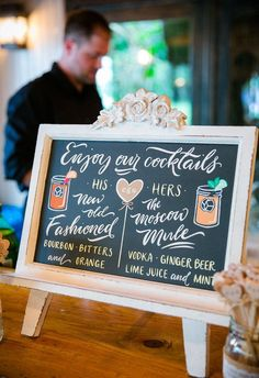 His and Her cocktails, New Old Fashioned, The Moscow Mule // Dana Cubbage Weddings