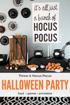 How to Throw a Hocus Pocus Halloween Party | Food, Games, Decor, and Printables #ad #20MinutesToTasty