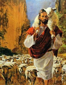 Richard Hook - The Good Shepherd - Christ-Centered Art Image Jesus, Jesus Christ Images, Jesus Art, Lord Is My Shepherd, The Good Shepherd, Bible Pictures, Jesus Pictures, Jesus Painting, Biblical Art