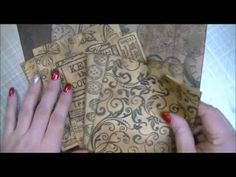 How to make ephemera using scraps! - YouTube