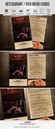 Restaurant Menu Design Template PSD Best Food Menu Templates
