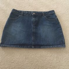 Vintage Old Navy Denim Mini Skirt This skirt is more than 15 years old. I would consider it a vintage piece. Denim material no stretch at all. Great piece for any season! Old Navy Jeans